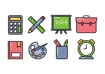 School Icon Pack - vector #421325 gratis
