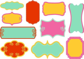 Free Decorative Funky Frame Collection Vector - vector gratuit #421335