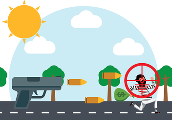 Shooting Thief Vector Background - Free vector #421365