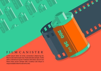 Film Canister Background - vector #421465 gratis