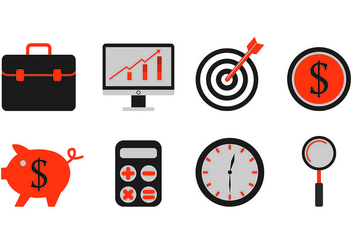 Set Of Business Icons - vector #421495 gratis