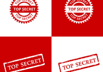 Top Secret Stamp Vectors - vector gratuit #421545