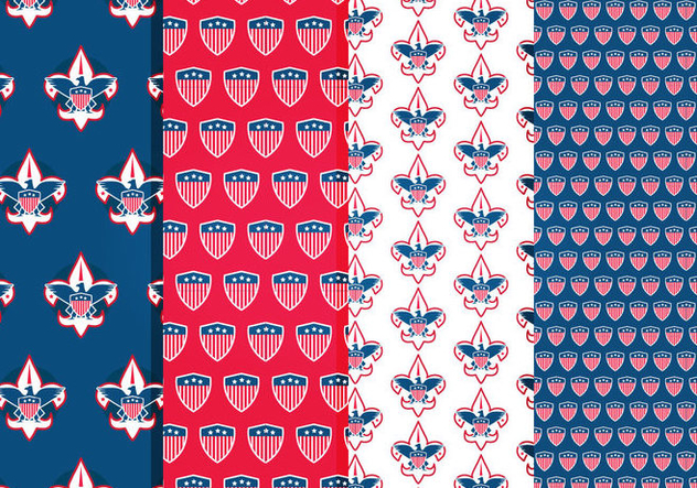 Eagle Scout Vector Patterns - vector #421555 gratis