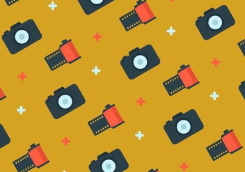 Film Canister and Camera Background - vector gratuit #421565
