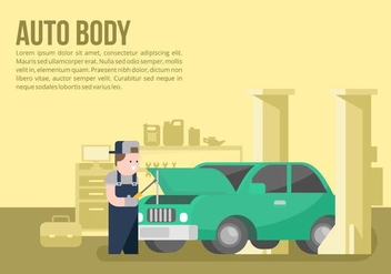 Auto Body and Mechanic Background - vector gratuit #421575