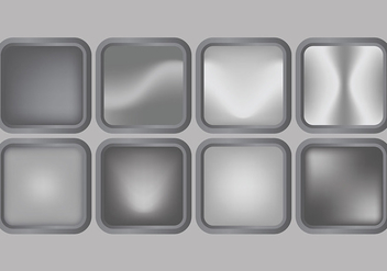 Shiny Grey Gradient Icons Vector - бесплатный vector #421665