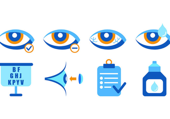 Set Of Eye Doctor Icons - vector gratuit #421755