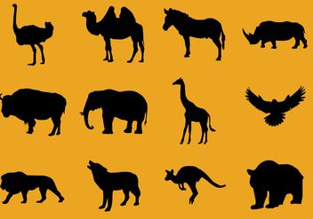 Silhouettes of Animals - vector gratuit #421945