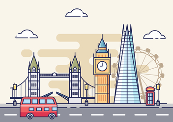 Free London Cityscape Illustration - vector gratuit #422035