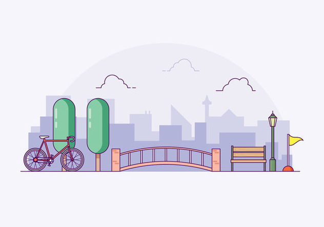 Free Bike Trail Illustration - Free vector #422045
