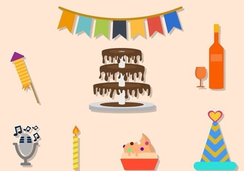 Flat Party Vectors - vector #422115 gratis