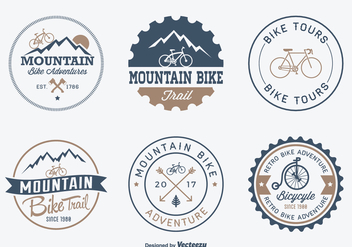 Free Bicycle Adventure Vector Badges - vector gratuit #422175
