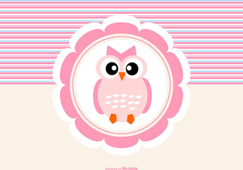 Cute Owl Background - vector #422185 gratis