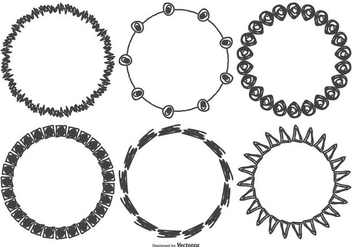 Sketchy Funky Frame Collection - vector #422195 gratis