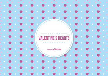 Valentine's Colorful Hearts Background - бесплатный vector #422235