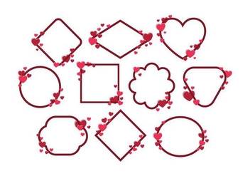 Free Valentines Frame Vector - Kostenloses vector #422265