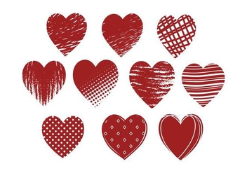 Free Grunge Hearts Vector - Free vector #422285