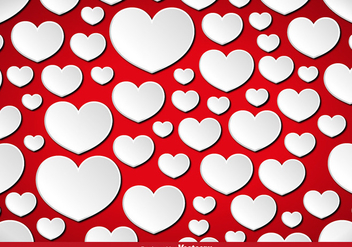 Vector Hearts Seamless Pattern. - Free vector #422295