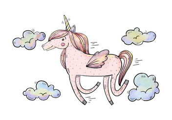 Free Unicorn Illustration - Free vector #422305