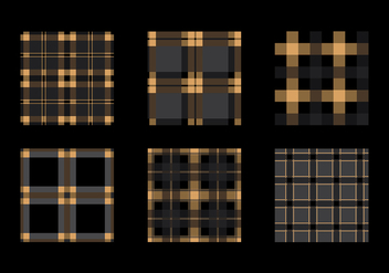 Flannel Black Gold Texture Vector - Free vector #422345