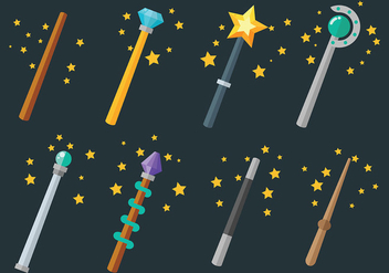 Free Magic Stick Icons Vector - vector gratuit #422375