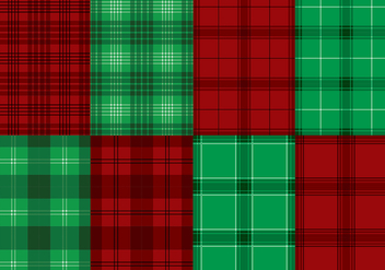 Flannel Red Green Texture Vector - vector gratuit #422455