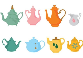 Free Different Teapot Icons Vector - vector gratuit #422565
