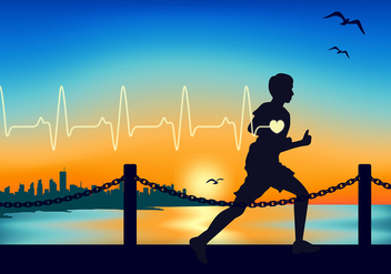 Heart Rate Running Free Vector - vector gratuit #422655