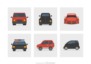 Flat Car Vector Icons - Free vector #422775