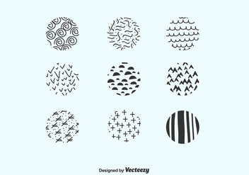 Hand Drawn Circles Pack Vector - бесплатный vector #422785