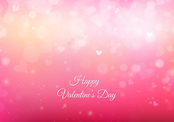 Free Vector Pink San Valentin Background With Lights And Hearts - Free vector #422815