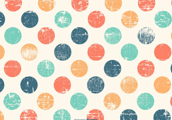 Cute Colorful Polka Dot Grunge Background - vector gratuit #422845