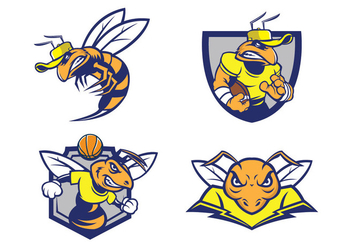 Free Hornets Mascot Vector - Free vector #422885