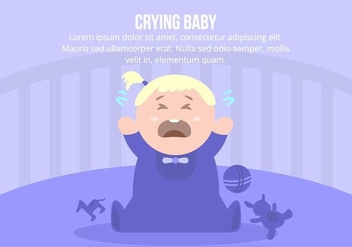 Crying Baby Girl Background - vector gratuit #422895