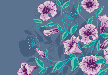 Vector Background with Purple Flowers - vector #422915 gratis