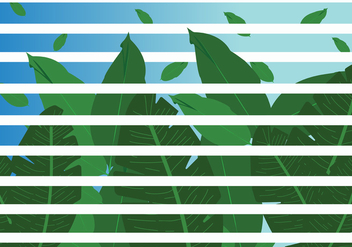 Jungle Leaves with Stripes Vector - vector gratuit #422925