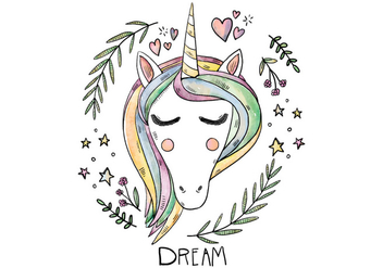 Free Unicorn Illustration - Free vector #422985