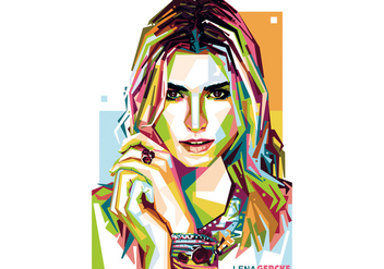 Lena Gercke Model WPAP Vector - бесплатный vector #423005