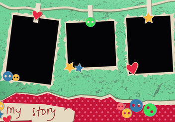 My Story Vintage Polaroid Frames - Free vector #423015