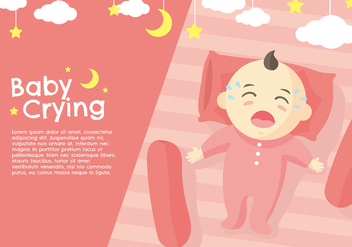 Crying Baby Peach Vector - Free vector #423025