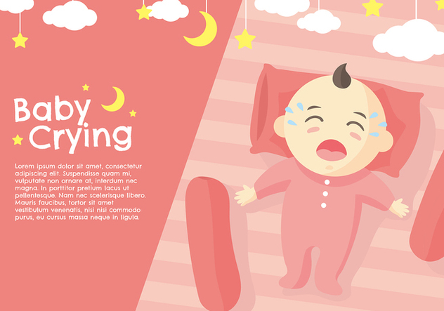 Crying Baby Peach Vector - Kostenloses vector #423025