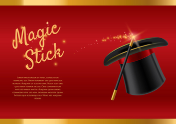 Magic Stick Template Vector - vector gratuit #423035