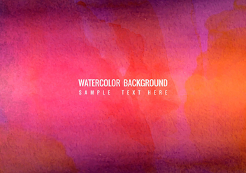 Free Vector Colorful Bright Watercolor Background - бесплатный vector #423055
