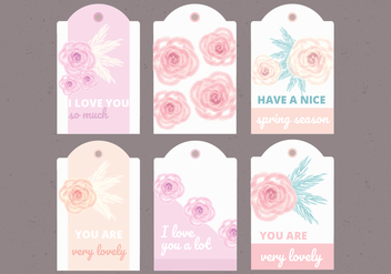 Vector Collection of Floral Labels - vector gratuit #423105