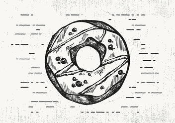 Free Hand Drawn Donut Background - vector gratuit #423115