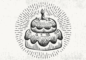 Free Hand Drawn Cake Background - бесплатный vector #423125
