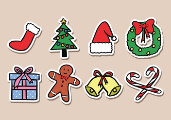 Christmas Sticker Icons - vector gratuit #423165