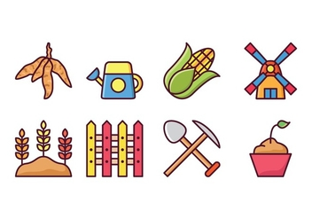 Agriculture Icon Set - vector #423185 gratis