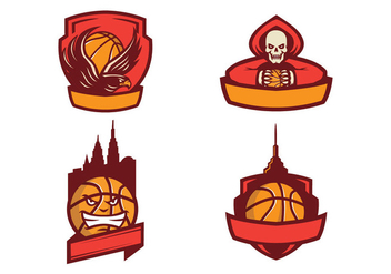 Free Basketball Logo Vector - бесплатный vector #423225