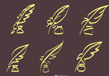 Sketch Inkwell Vectors - бесплатный vector #423345